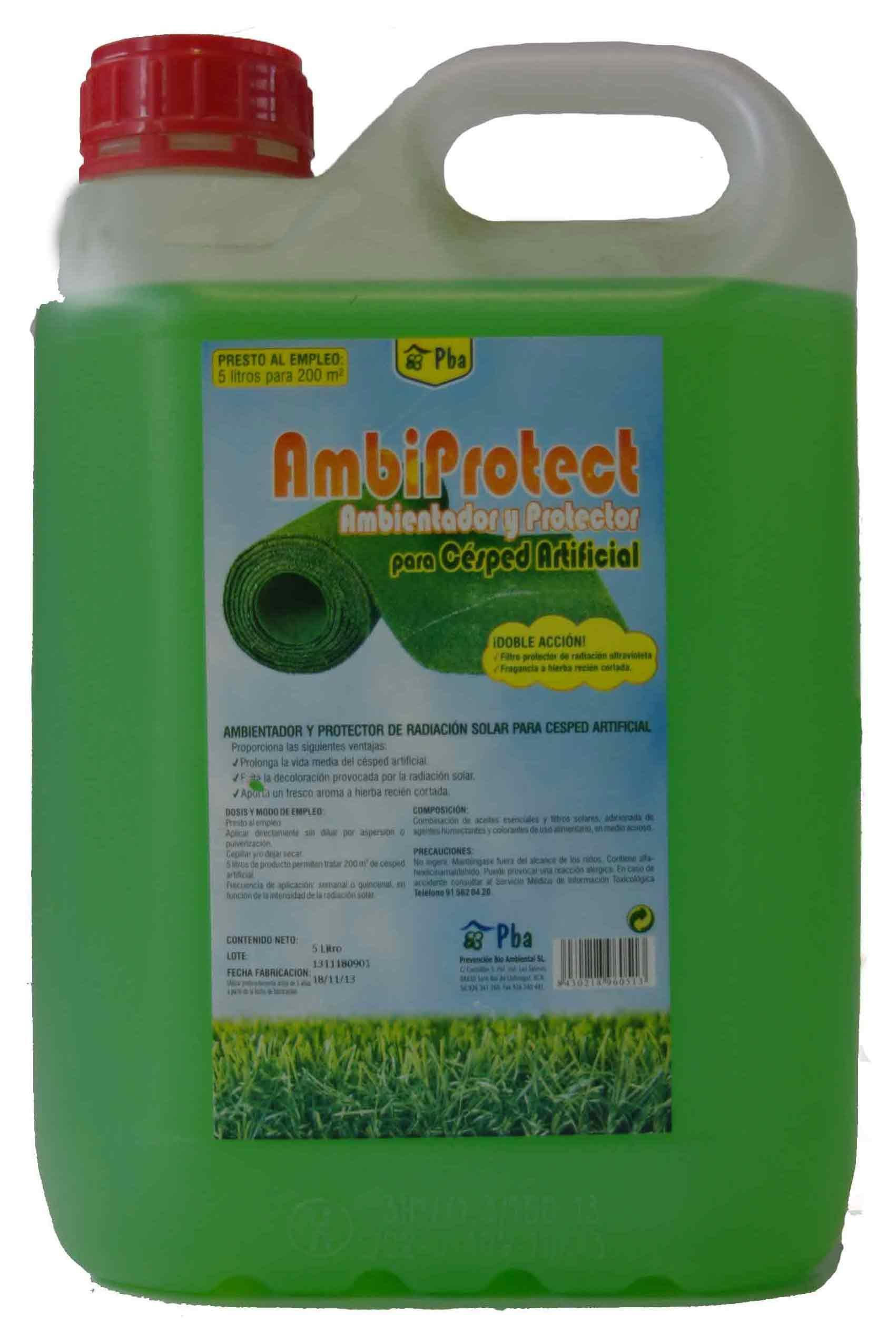 ambiprotect cuidados y limpieza cesped artificial