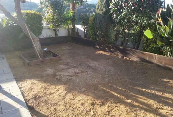 cesped artificial ultra, mezcla de arena y grava