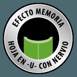 cesped artificial efecto memoria hoja en U