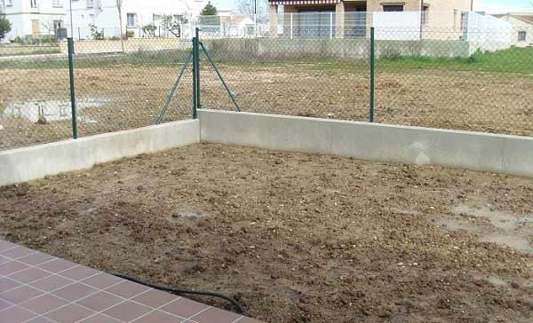 el antes de instalación cesped artificial prado 40
