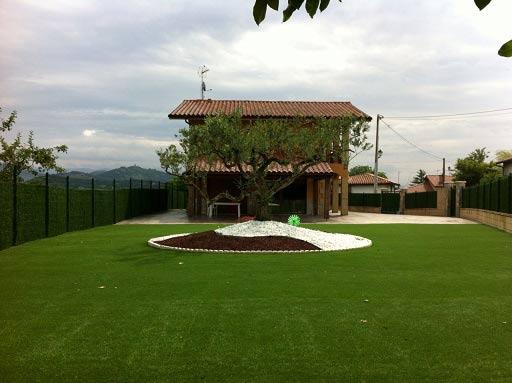 para jardín instalación cesped artificial supreme