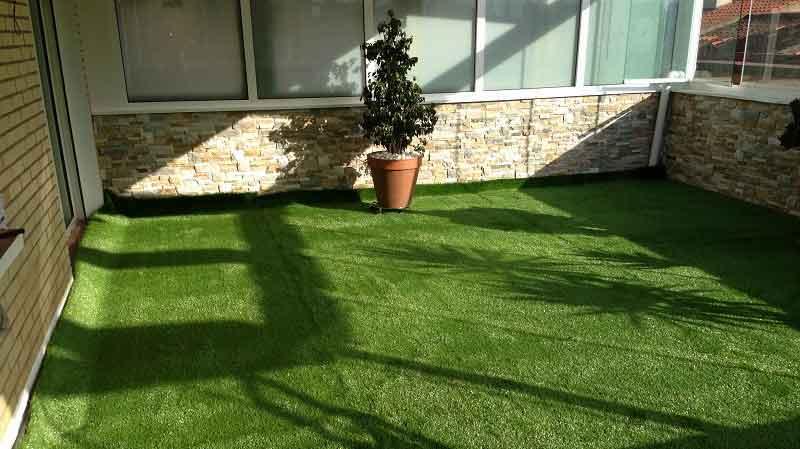 un ejemplo de instalación cesped artificial prado 30