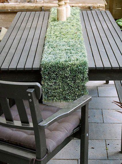 muebles para casa decorados con cesped artificial