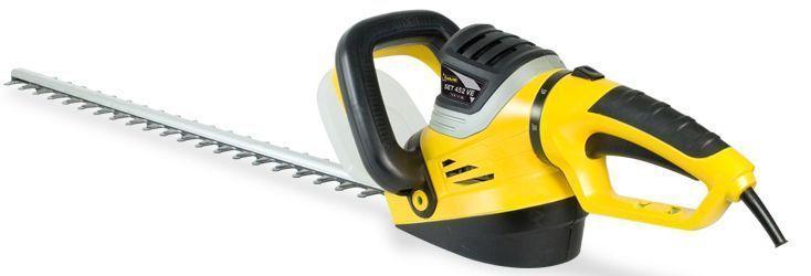 cortasetos eléctrico set 452 VE y cesped artificial
