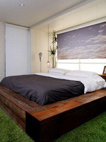 habitación y cesped artificial