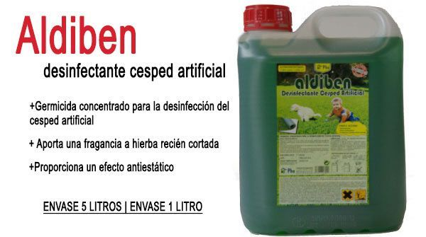 limpieza y mantenimiento cesped artificial aldiben