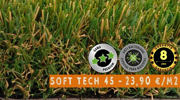 cesped artificial soft tech 45