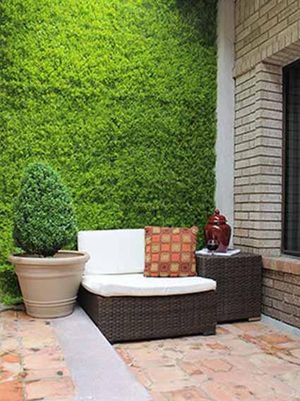 jardín vertical cesped artificial