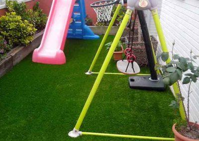 Cesped artificial para parques infantiles