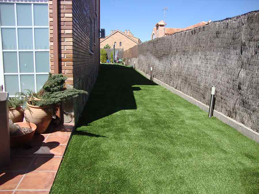 elite instalación cesped artificial jardin