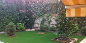 instalacin cesped artificial para jardines
