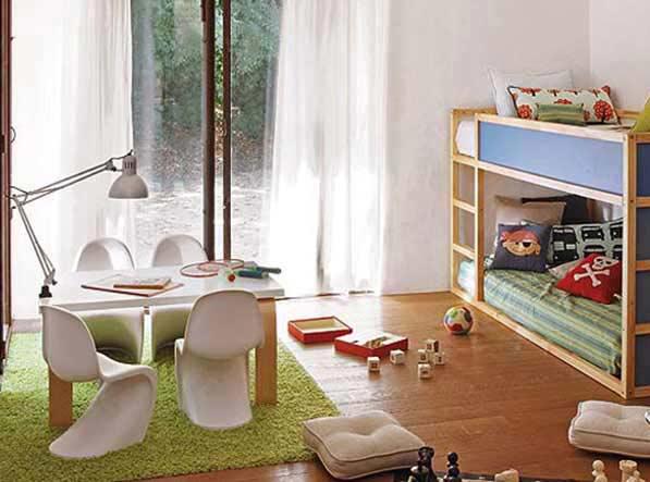 cesped artificial en interiores ejemplo habitación
