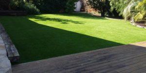 cesped artificial para jardines ejemplo de instalacin