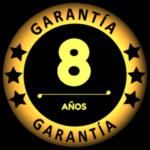 8 años de garantía